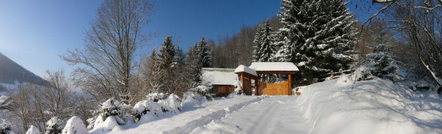 Chata Skalica v zime